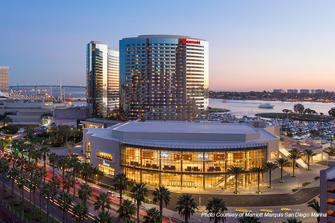 Marriott Marquis San Diego Marina - Outside view of hotel